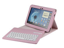 High quality leather case with detachable wireless bluetooth keyboard for SAMSUNG galaxy note 10.1inch N8000-SA101