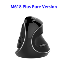 DeLUX M618 Plus Ergonomic Comfort Gaming Computer Wireless Mouse