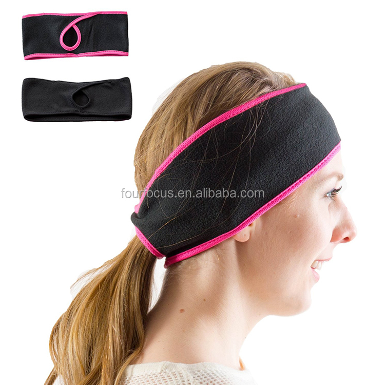 Horsetail Hole Headband Polar fleece Ear Warmer headband