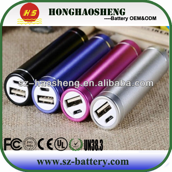 High Quality Power Bank 2600 mAh Power lipstick Battery Bank