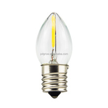 Mini Bulbs C7 120V 220V Led Filament Bulbs 1w Candle Lights Led