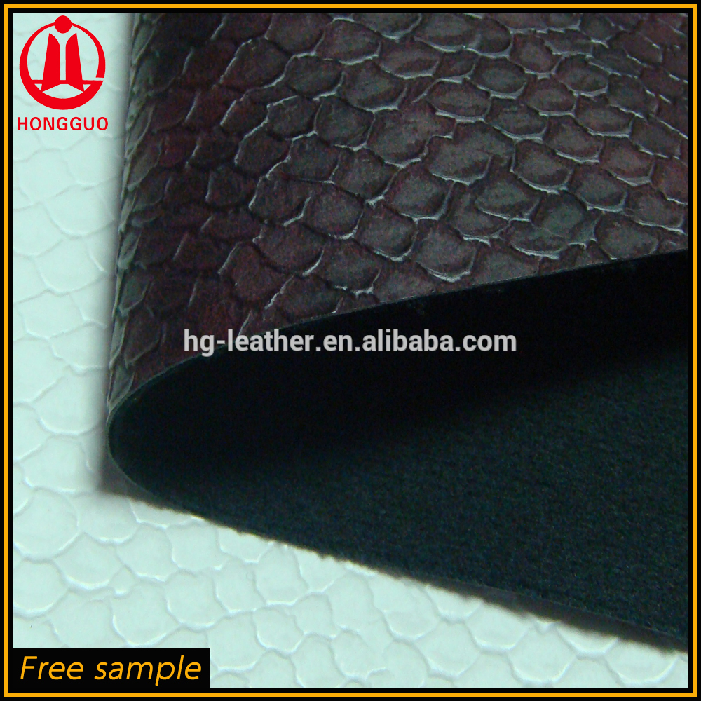 hot sale patented faux snake skin leather for shoes