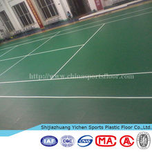 Used sport court durable pvc plastic tennis floor