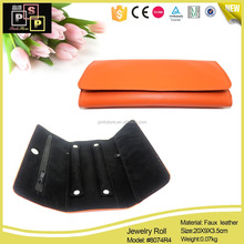 High-quality custom pu leather jewelry pouch