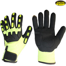 Anti Vibration Impact Shock Resistant Mechanics Working TPR Protection Gloves