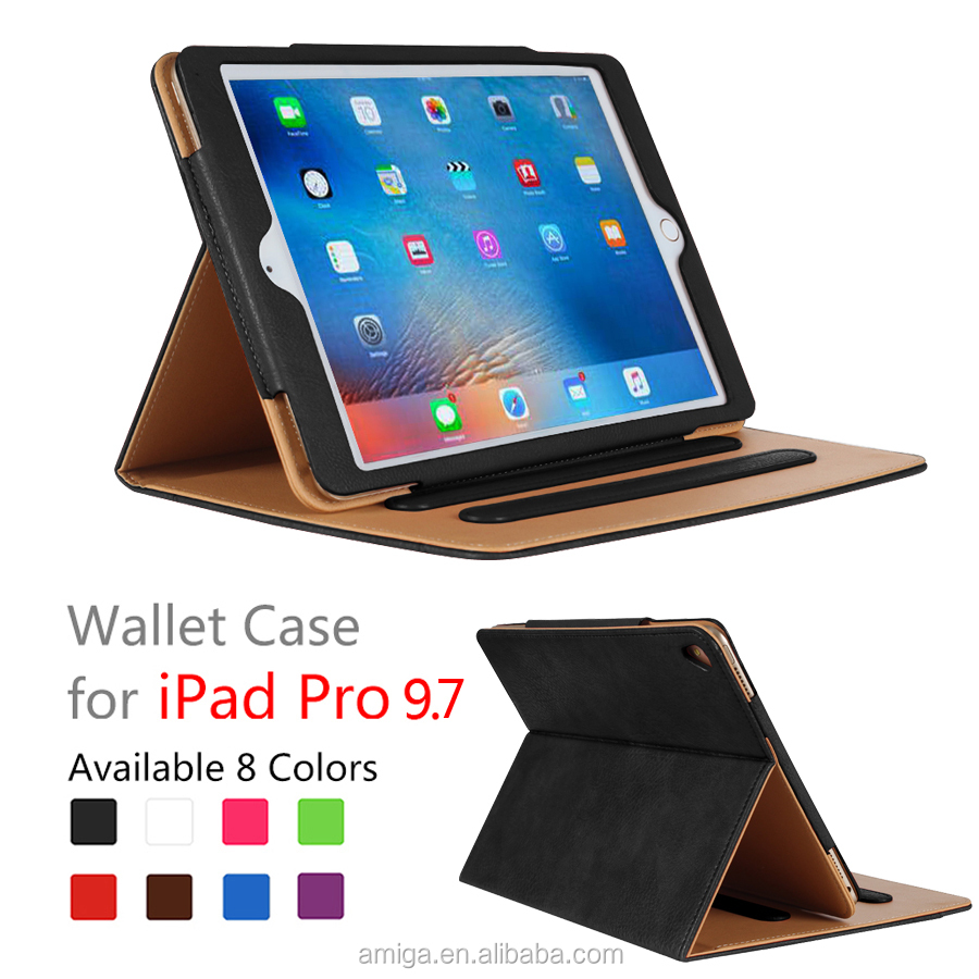 Hot For Ipad Protective Case Leather Case Wallet Cover For Ipad Pro 12.5 Leather Case For Ipad With Card Pocket