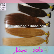 Extremely hot selling U Tip keratin fusion tip 100% remy human hair extension