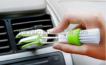 Multi functional double headed slot brush, air conditioning outlet cleaning brush keyboard brush, blinds dust brush