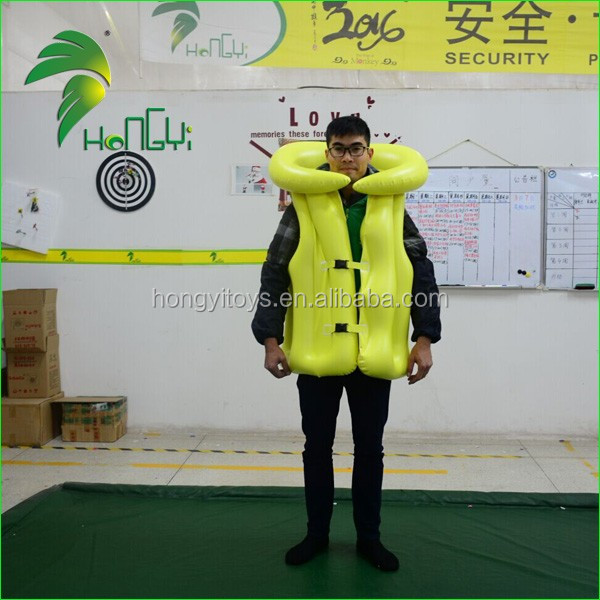New Inflatable Toys / PVC Inflatable Swim Vest / Inflatable Swimsuit For Adult