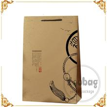 Cheap advertising tote wine paper bag with high quality