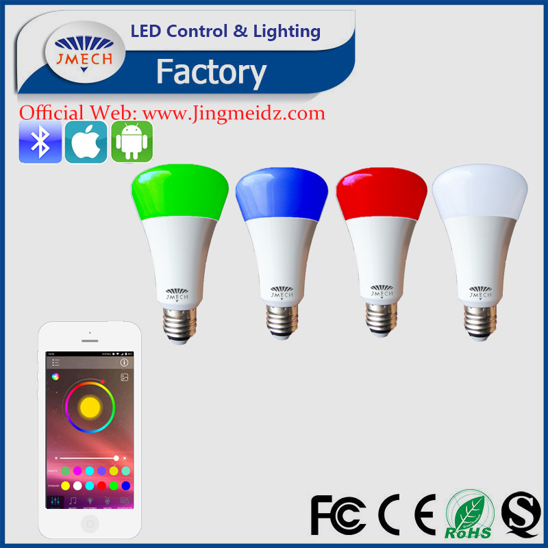 wifi controlled ,wifi led bulb 6w 9W AC86-260V,wifi controlled power switch WiFi RGB bluetooth RGBW led bulbs by Android/IOS APP