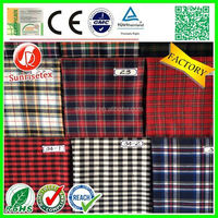 Stocklot cheap polyester/cotton yarn dyed fabric factory