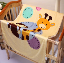 100% polyester printed baby blanket for baby