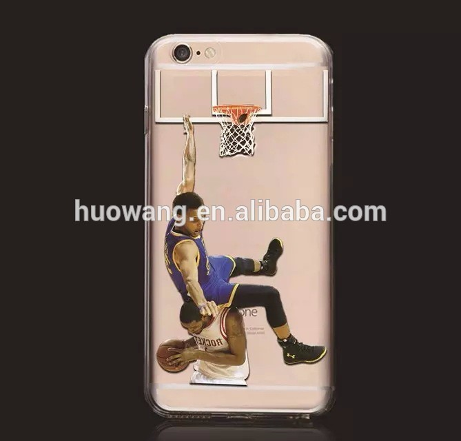 concise style OEM NBA tpu blank phone case for iphone 6 /5 /4,customize your own images case