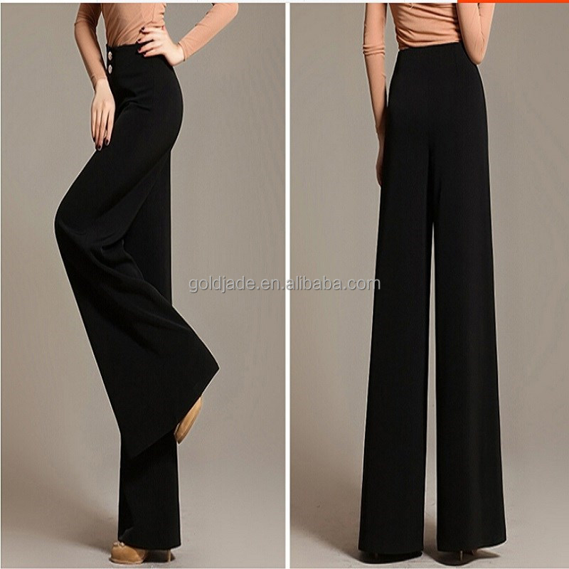 Korea design new ladies fashion trousers design,high quality cutting of ladies trousers,office ladies long shirt with trous