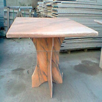Outdoor Square Marble Stone Coffee Table