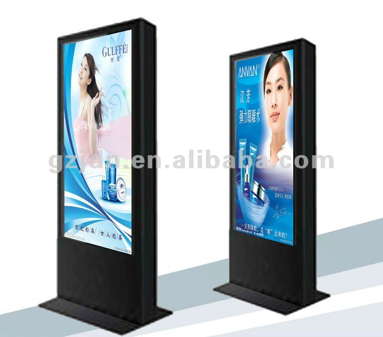42inch black cabinet lcd advertising interactive kiosk