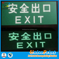 China supplier offer non-electric laser engraving moisture-proof fluorescent light outdoor sign board