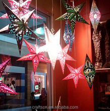 LED lucky star paper for home decoration