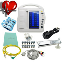 Twelve 12 Channel Portable 10 inch ECG Machine TFT LCD Touch Screen Digital Electrocardiograph EKG-1212A