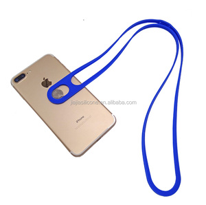 silicone cell phone hang rope mobile phone charm strap