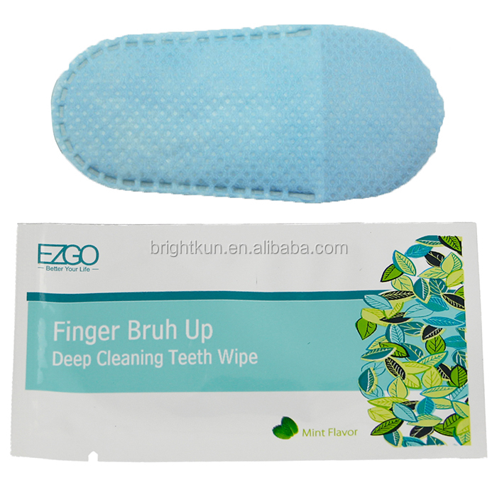 newest mint flavor oral finger multi-purpose cleaning teeth wipes