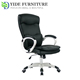 swivel black leather boss executive office chair with castor wheels