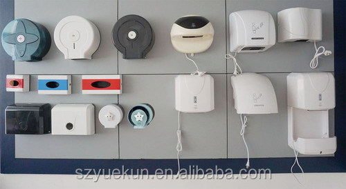 Wall mount tissue paper roll holder/ big plastic toilet roll paper rack YK2085