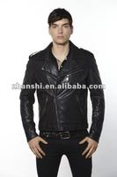 Men's PU Leather Motorcycle Jacket NEW!