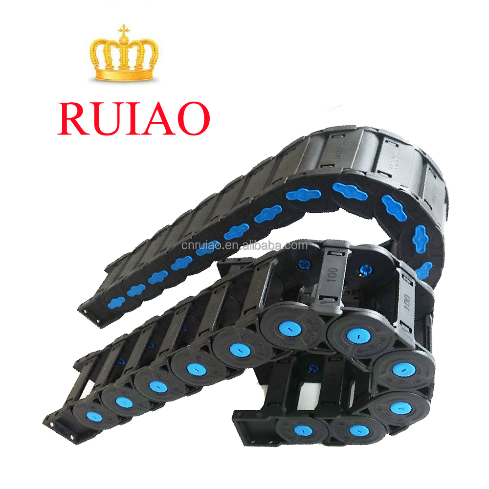 RUIAO brand pa66 material cable drag chain various size flexible cable tray