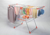 High Quality Butterfly Folding Cloth Dryer Hanger Rack Metal Clothes Rack PVC COATED Drying Rack Nigeria