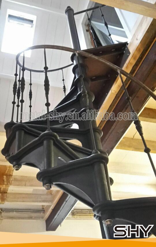 Interior Outdoor Used Metal Spiral Staircase Cast Iron