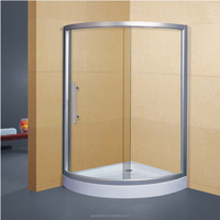 Arc-shaped Screen Aluminium Alloy System Model Shower Room