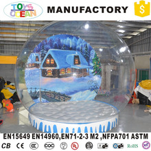 Customized Design Inflatable Snow Globes For Indoor Advertising With High Quality