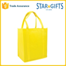 Custom Logo Heavy Duty Foldable Nonwoven Yellow Cheap Shopping Bags For Womens