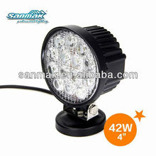 Round shape led work light high power truck working light 42W led offroad light sm6421