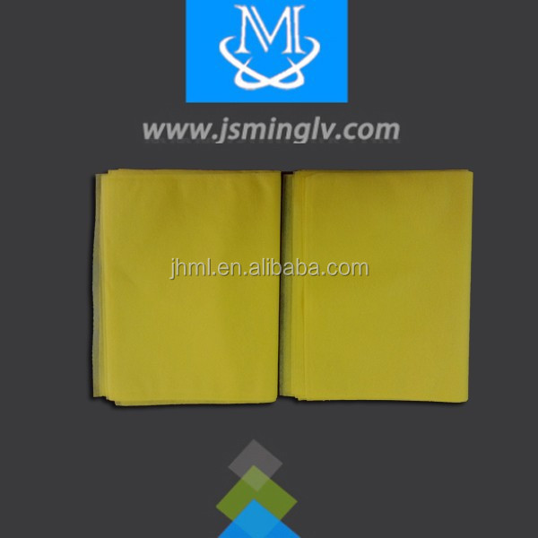 yellow air non-woven pillow case ultrasonically welded with printing