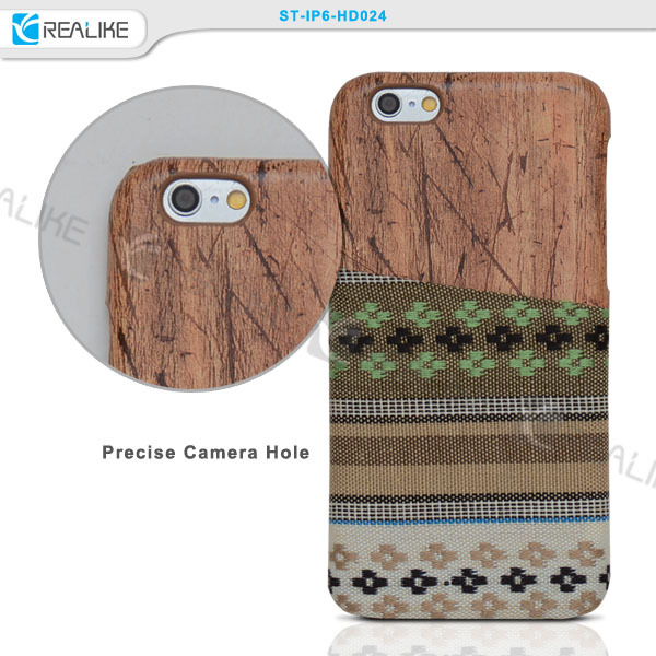 New arrival brand ultra slim PC soft wood phone case for iphone 6