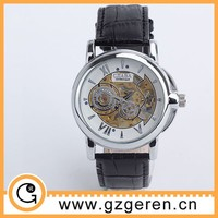 Hot sale luxury brown leather funky watch 00181z