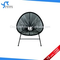 Patio Outdoor Stacking PE Rattan Chair Furniture Aluminum Frame Coffee House Chair PE Frame Rattan Chair