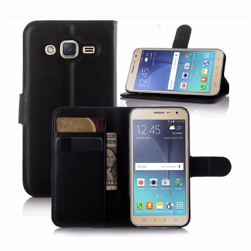 leather wallet flip cell phone case cover for samsung galaxy on7
