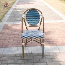 (SP-OC428) Handmade stacking armless french rattan bistro chairs