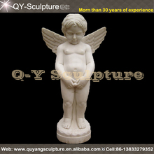 Carved Marble Nude Child Statue