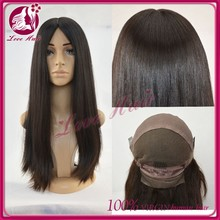 wholesale high quality natural brazilian straight human hair full lace mohawk wig
