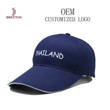 Shenzhen Blue Cotton Fabric Embroidery Long Visor Baseball Cap With Embroidery