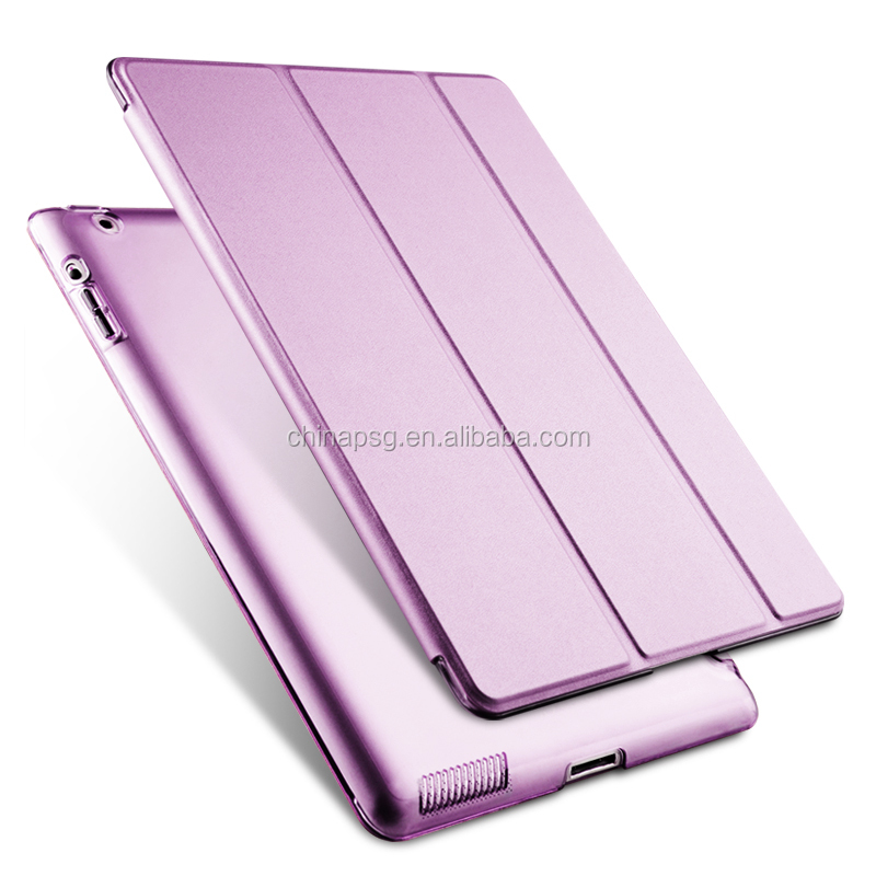 Ultra Slim Smart Pu Leather Case for iPad, Flip Cover Case for iPad 234 Purple