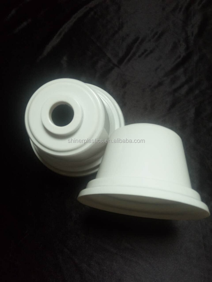 white injection plastic molding hollow screw