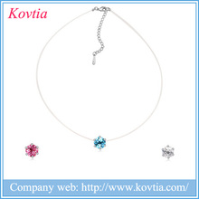 New 2015 popular items real diamond pendant necklace single stone diamond jewelry