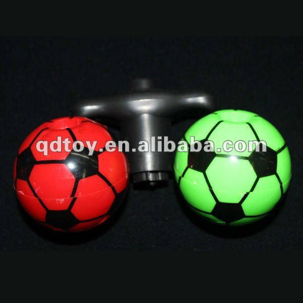 Flashing football top toy