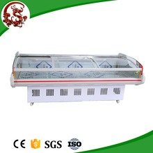 Flat top open meat display cooler/refrigerator showcase made in China